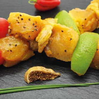 Brochettes de miel figues
