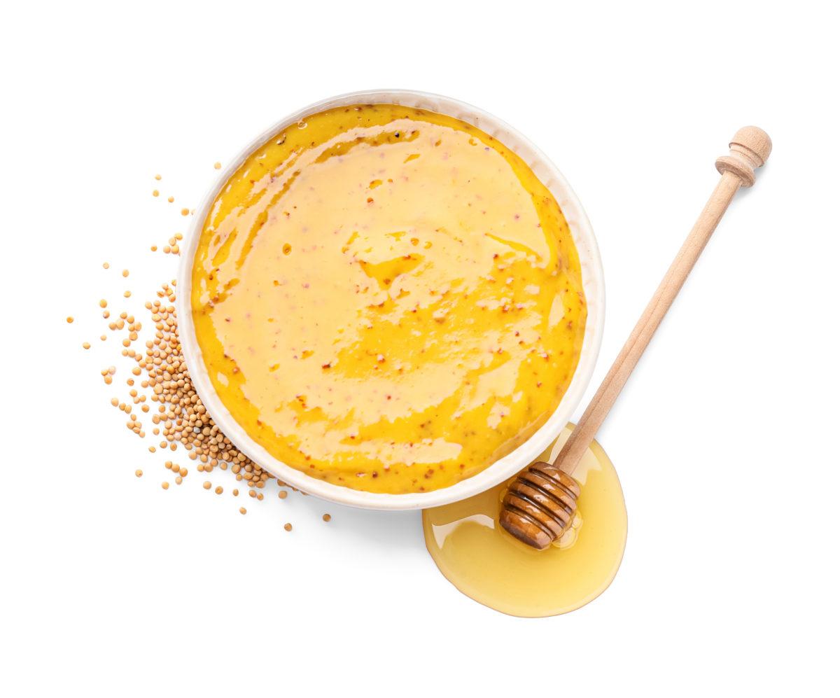 Saucisses de Toulouse à la moutarde, miel et pommes de terre